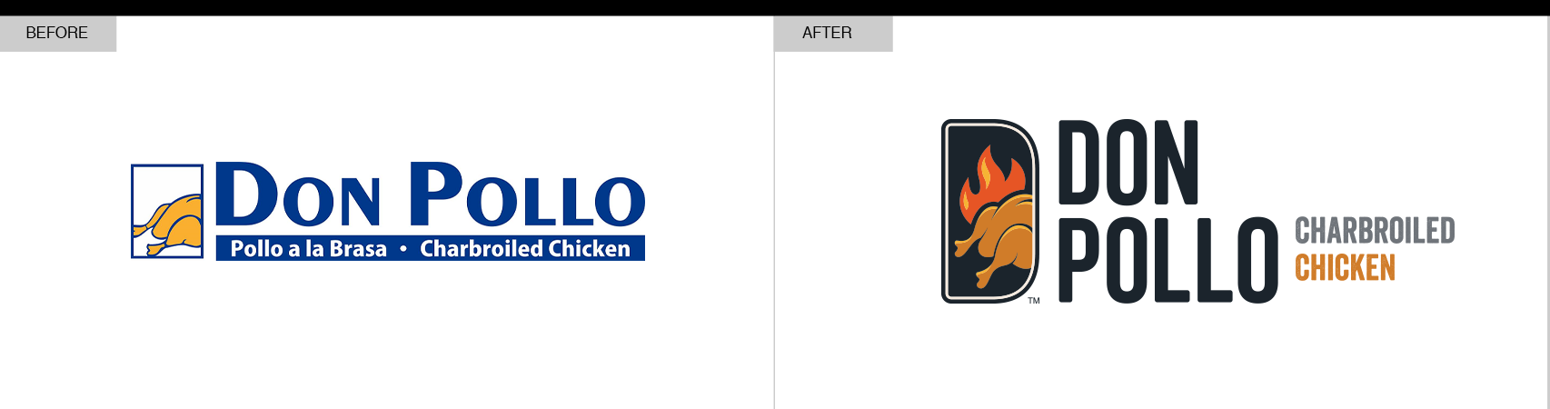 Don Pollo Branding Before and After